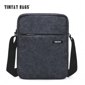 TINYAT Tas Selempang Crossbody Messenger Bag Pria - T511 - Black