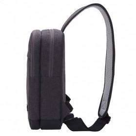 TINYAT Tas Selempang Crossbody Sling Bag - T602 - Dark Gray - 3