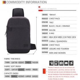TINYAT Tas Selempang Crossbody Sling Bag - T602 - Dark Gray - 4