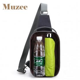 Muzee Tas Selempang dengan USB Charger Port dengan Dompet - Coffee - 4