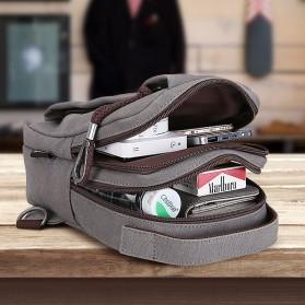 Muzee Tas Selempang dengan USB Charger Port dengan Dompet - Coffee - 6