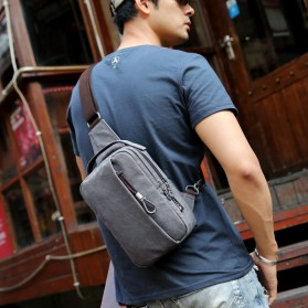 Muzee Tas Selempang Crossbody Bag dengan USB Charger Port dengan Dompet - Navy Blue - 3