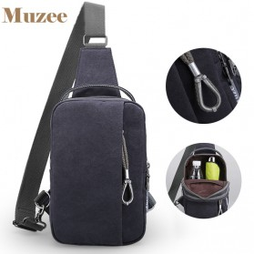 Muzee Tas Selempang Crossbody Bag dengan USB Charger Port dengan Dompet - Navy Blue - 5