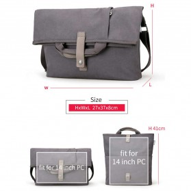 MUZEE Tas Selempang Messenger Bag - ME-1125 (backup) - Black - 8