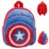 Tas Sekolah Anak Karakter Kartun Captain America - Blue