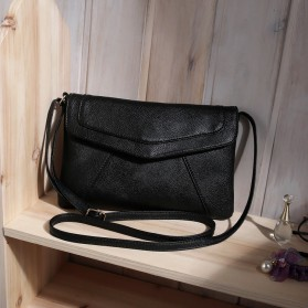 Tas Selempang Wanita Casual Leather Messenger Handbag - Black - 2