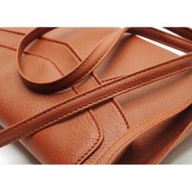 Tas Selempang Wanita Casual Leather Messenger Handbag - Black - 5