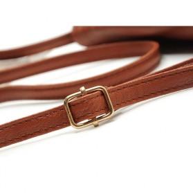 Tas Selempang Wanita Casual Leather Messenger Handbag - Black - 6