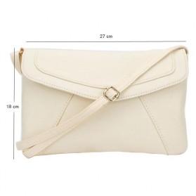 Tas Selempang Wanita Casual Leather Messenger Handbag - Black - 7