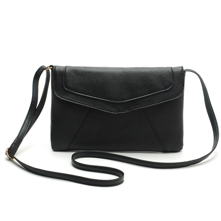 ... Tas Selempang Wanita Casual Leather Messenger Handbag - Black - 1 ... f37eeb1c42