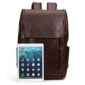 HERALD Tas Ransel Kulit Vintage Leather Backpack - 9367 - Chocolate - 1