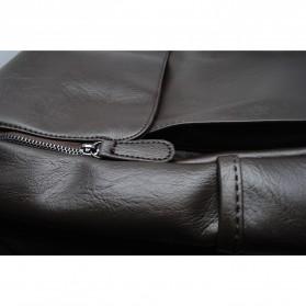 HERALD Tas Ransel Kulit Vintage Leather Backpack - 9367 - Chocolate - 3