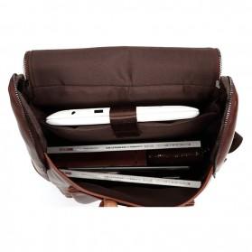 HERALD Tas Ransel Kulit Vintage Leather Backpack - 9367 - Chocolate - 5