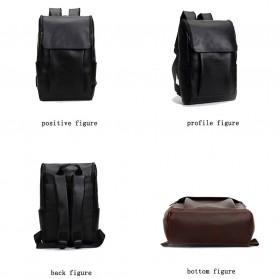 HERALD Tas Ransel Kulit Vintage Leather Backpack - 9367 - Chocolate - 6
