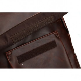 HERALD Tas Ransel Kulit Vintage Leather Backpack - 9367 - Chocolate - 8