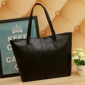 Shoulder Bag Kulit Minimalis - Black