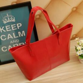 Shoulder Bag Kulit Minimalis - Red