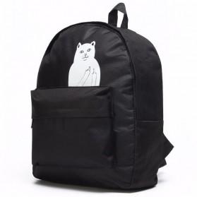 Tas Ransel Wanita Motif Kucing - Black