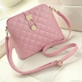 Tas Selempang Messenger Wanita Model Shell - Pink