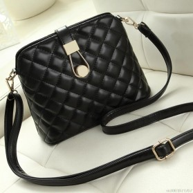 Tas Selempang Messenger Wanita Model Shell - Black