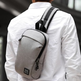 Dxyizu Tas Selempang Urban Style Crossbody Bag - 332 - Gray - 2
