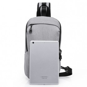 Xyueda Tas Selempang Urban Style Crossbody Bag - 332 - Gray - 3