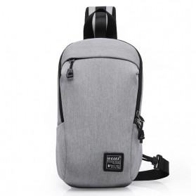 Dxyizu Tas Selempang Urban Style Crossbody Bag - 332 - Gray - 4