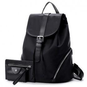 Tas Ransel Wanita Nylon Premium 3 in 1 - Black