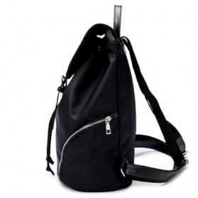 Tas Ransel Wanita Nylon Premium 3 in 1 - Black - 4