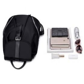 Tas Ransel Wanita Nylon Premium 3 in 1 - Black - 5