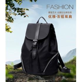 Tas Ransel Wanita Nylon Premium 3 in 1 - Black - 6