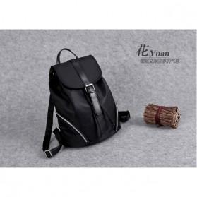Tas Ransel Wanita Nylon Premium 3 in 1 - Black - 7