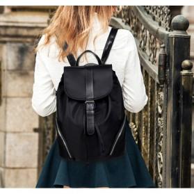 Tas Ransel Wanita Nylon Premium 3 in 1 - Black - 8