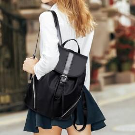 Tas Ransel Wanita Nylon Premium 3 in 1 - Black - 9