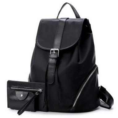 ... Tas Ransel Wanita Nylon Premium 3 in 1 - Black - 1 ...