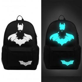 Tas Ransel Oxford Glow in The Dark - Model Batman - Black