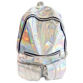 Tas Ransel Wanita Hologram Blink Blink - Silver