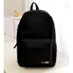 Tas Backpack Canvas Model Polos - Black