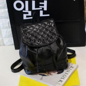 Tas Ransel Mini Gaya Korea untuk Wanita - 888 - Black - 1