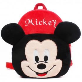 Tas Sekolah Anak Karakter Kartun Mickey Mouse - Red