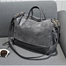 Tas Selempang Kulit Shoulder Bag Wanita - Dark Gray