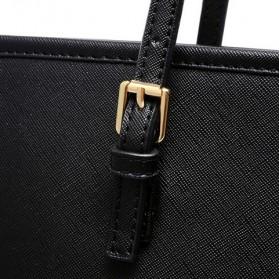 Tas Jinjing Kulit Shoulder Bag Retro Wanita - Black - 2