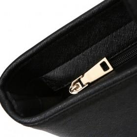 Tas Jinjing Kulit Shoulder Bag Retro Wanita - Black - 3