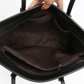 Tas Jinjing Kulit Shoulder Bag Retro Wanita - Black - 4