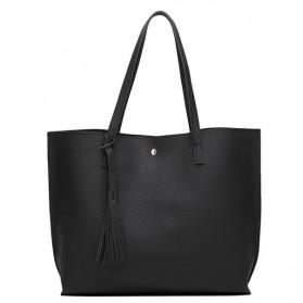 Tas Selempang Kulit Halus Shoulder Bag Wanita - Black