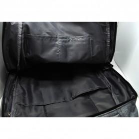 Meijieluo Tas Ransel Laptop Oxford Pria dengan USB Charger Port - Black - 5