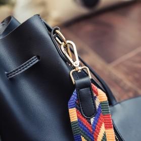 Tas Selempang Kasual Wanita Colorful Strap - Black - 3