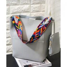... Tas Tote Bag Wanita Colorful Strap - Gray - 1 ...