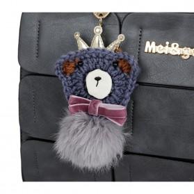 Mei&ge Tas Selempang Handbag Wanita Casual - Black - 2