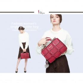 Mei&ge Tas Selempang Handbag Wanita Casual - Black - 4